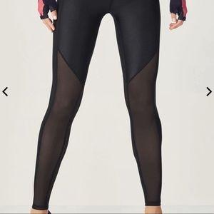 Fabletics black mesh leggings XLARGE